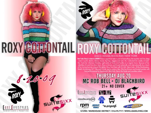 Roxy Cottontail @ Suite Sixx.... Thursday, August 20th